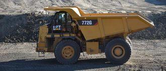 Cat 772G (535 hk m/totalvekt inkl last 82 tonn)