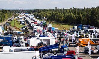 Messe så langt øyet kan se på Transportmessa 2013 på Gardermoen.