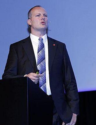 Ketil Solvik-Olsen møtte logistikkbransjen tirsdag, og benyttet anledningen til å skryte av samferdselsbudsjettet.