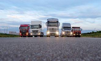 Daimler Trucks' forskjellige merker.