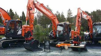 Den nye 15-tonneren sto klar da Trangvik Maskins ansatte kom til Mefa.