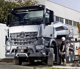 Det er tatt frem en vektoptimert Arocs-variant for betongbiler.