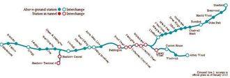 Crossrail skal gå tvers gjennom London fra øst til vest.