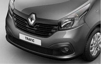 Det særegne frontpartiet på nye Renault Trafic.