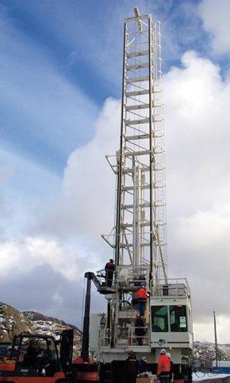 Boretårnet når 31 meter til værs.