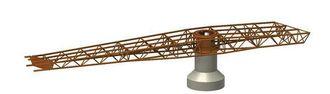 Broen kan rotere 72 grader for å slippe gjennom båttrafikken.