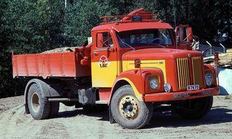 Introduksjonsåret var 1962 og bilen er Scania-Vabis L56: Svensk, masseforflyttende arbeidshest.