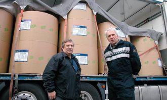 Kjetil Meaas til venstre og Martin Visnes gjennomførte testen av WisaFix sikringssystem.