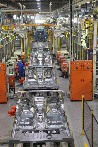 6 uker før vi var på besøk rullet de siste Ford Focus av samlebåndet, deretter ble fabrikken ombygd for å kunne produsere nye Ford Ranger.