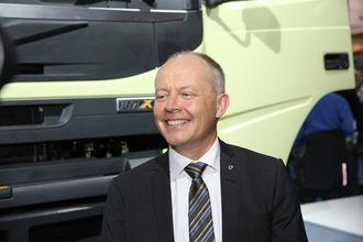 Volvo-sjef Claes Nilsson strålte under lanseringen av nye FMX.