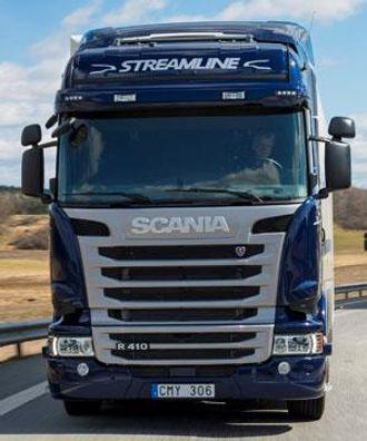 Scania R 410 tilfredsstiller Euro 6-kravene kun ved bruk av SCR-katalysator (Selective Catalytic Reduction).