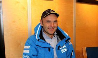 Markedssjef David Kristianslund i Volvo Maskin er fornøyd med oppmøtet på auksjonen på Dyrsku'n.