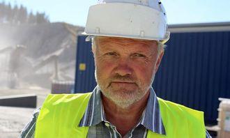 Jan Helge Andersen, distriktssjef for asfaltproduksjon i NCC Roads.