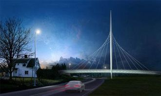Norgesporten i Ørje er prosjektets mest spektakulære del.