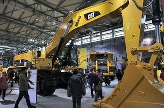 Selv om Cat har en enorm stand, har de ikke med de aller største maskinene. Denne 90-tonneren (390D) er den største selskapet har utstilt.