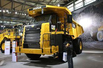 Den nye tipptrucken Cat772G var blant nyhetene under Bauma China