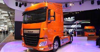 Nye DAF XF slik den står på IAA i Hannover.