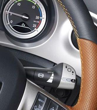 Eco Mode kan enkelt kobles ut med en bryter på rattstammehendelen.