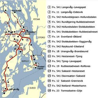Hestaneset-Tjong er delprosjekt 11 på denne illustrasjonen av Bømlo-pakken fra Statens vegvesen.