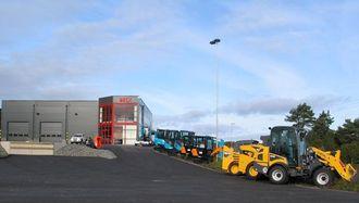 Beck-anlegget i Gøteborg som nå klargjøres for Kobelco-importen til Sverige.