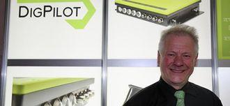 Jan Floberg hevder at Dig Pilot har den skarpeste standen på Bauma 2013. Vi strekker oss så langt som å si at det er en av de grønneste