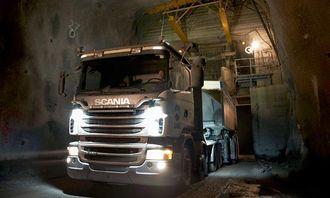 To Scania G480 8x4 med en lastekapasitet på 90 tonn hver, begge utstyrt med Allisons helautomatiske girkasse i 4000-serien, er noen av de siste tilskuddene til LKABs kjøretøyflåte.