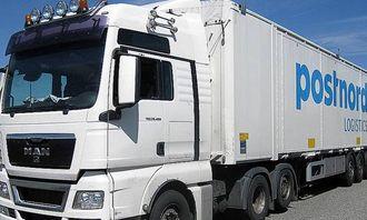 Dette vogntoget som kjørte for Postnord Logistics ble anmeldt av inspektører fra Jessheim trafikkstasjon i 2014.