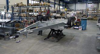 13.000 kvadratmeter produksjonslokaler trengs når det skal monteres 10.000 tilhengere i året.