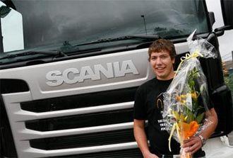 Blomsterkvasten fra landsfinalen var sikkert fin, men det hadde vært enda mer stas å vinne en Scania R-serie i den internasjonale finalen.