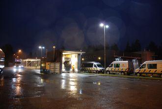 Bilde fra grensekontroll ved Magnor i Hedmark.