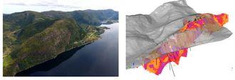 Slik ser forekomsten i Engebøfjellet ut. Illustrasjon: Nordic Mining