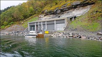 FERDIG: Slik ser det ferdige anlegget i Lidal ut etter at Lemminkäinen har bygget kraftverk der.