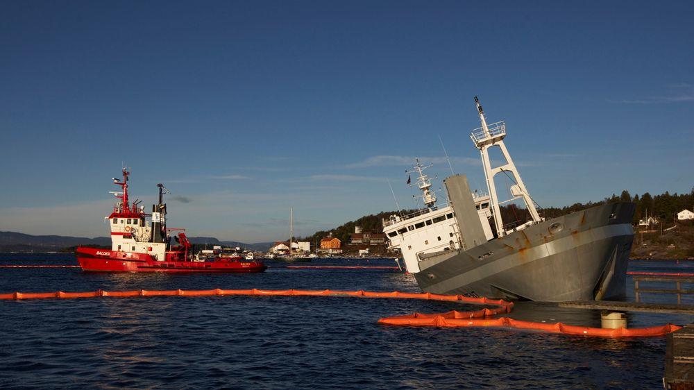 Daværende Crete Cement sank i nærheten av Fagerstrand på Nesodden i 2008. Sementskipet seiler nå under navnet MV Nordanvik.