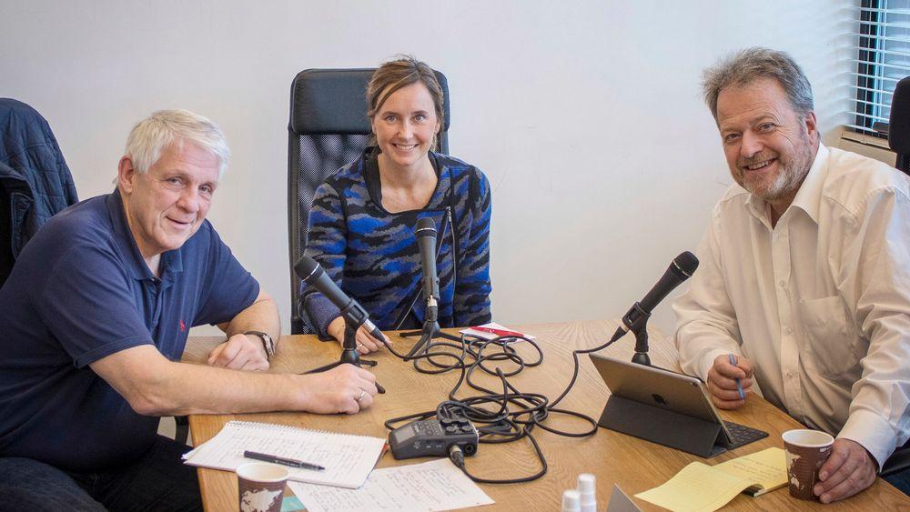 Vi er gjester hos Nordic Innovation House. Fra venstre Odd Richard Valmot, Gro Dyrnes og Jan M. Moberg.