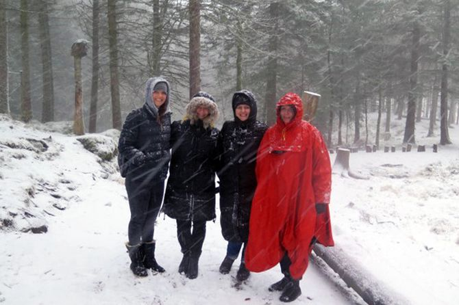 Fra venstre: Jannicke Sagosen (Norge), daglig leder i Kidsa Øvsttun Anne Elin Teigland (Norge), Adrijana Visnjic Jevtic (Kroatia) og Ewa Lewandowska (Polen).