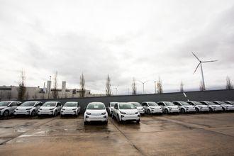 Elbiler ved BMWs bilfabrikk i Tyskland.