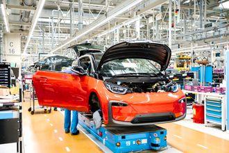 Fra produksjonslinjen til BMW i3.