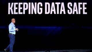 Intel-sjef Brian Krzanich under keynote ved CES i Las Vegas den 8. januar 2018.