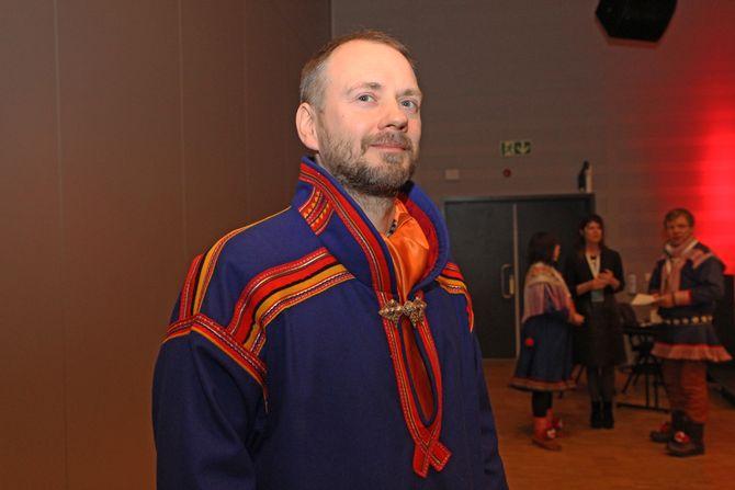 Avd.leder ved Samisk Spesialpedagogisk Støtte (SEAD), Statped Nord, John-Marcus Kuhmunen på FUBs samiske foreldrekonferanse under Tråante 2017.