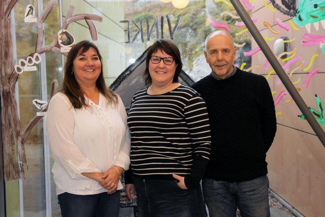 Fra venstre: Utviklingssjef i Barnehagenett, Eva Heger, prosjektleder for utviklingsarbeidet i TIPP, Solveig Holter Tollefsen, og professor i pedagogikk ved Høgskolen i Østfold, Roger Sträng.