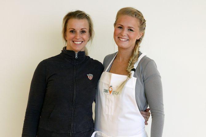Iselin Bogstrand og Anette Djuvstad vil gjøre det lettere å servere sunn mat i barnehagen.