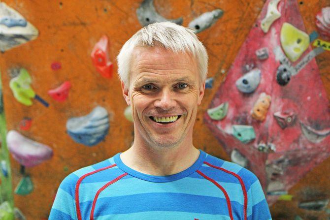 Klatreinstruktør i Bodø Klatreklubb, Harald Karlsen.
