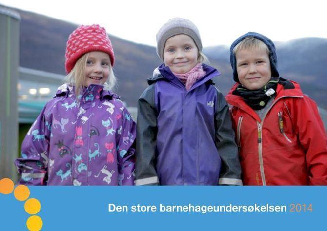 Faksimile av forsiden til Den Store Barnehageundersøkelsen 2014.