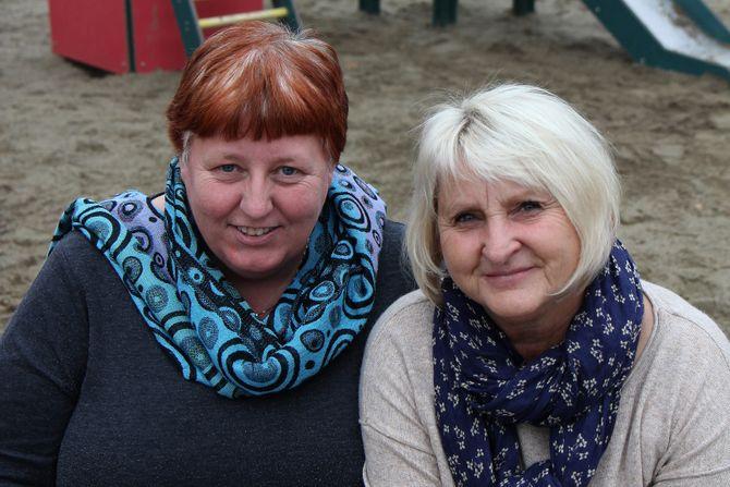 F.V: Wenche Irene Aasland og Aud Risvik.