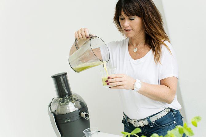 Juiceterapeut og forfatter Vibeke Blomvågnes.