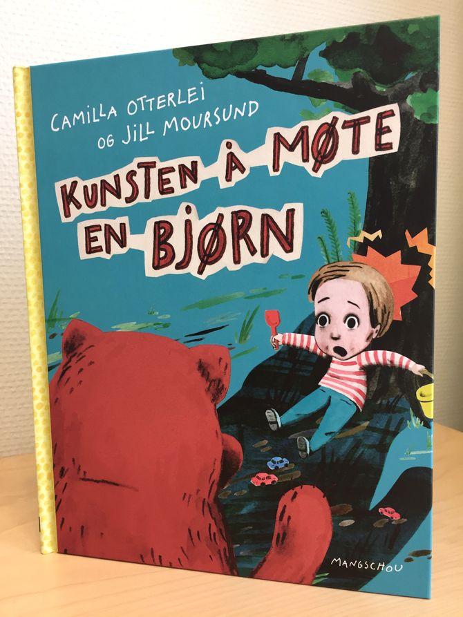 """Kunsten å møte en bjørn"" av Camilla Otterlei. Ill: Jill Moursund. Mangschou forlag."