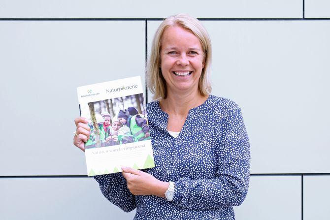 Vibeke Mæhlum er prosjektleder i Nasjonalt kunnskapssenter for barnehager, som har laget et ressurshefte i forbindelse med Friluftslivets uke.