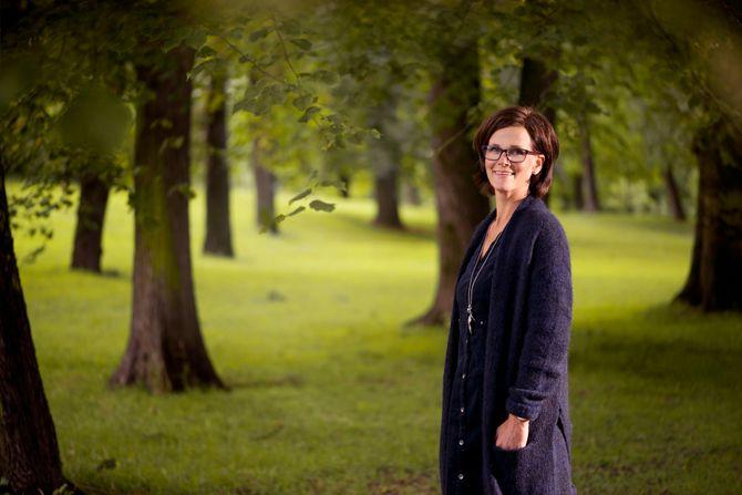 Kjersti Hagen Grønmyr er daglig leder i Gnist Barnehager og stolt mottaker av Merket for god design 2015.
