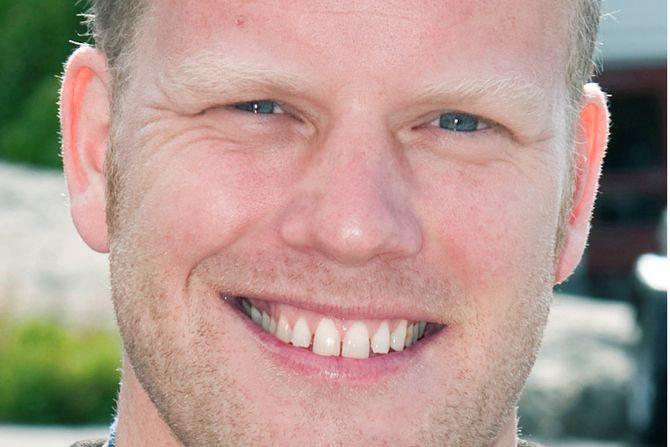 Fornøyd pappa Morten Bjørn Larsen.