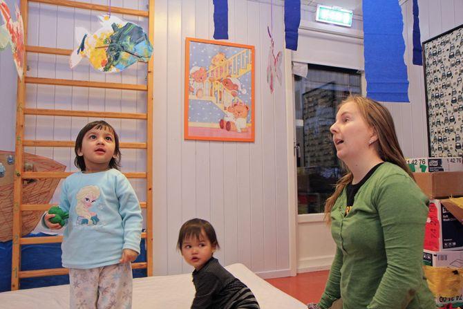 Pedagogisk leder Marit Ingstad Teige begynte i Smedbakken FUS barnehage et halvt år før FUS tok over.